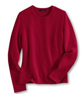 'Women's Cashmere Long Sleeve Tee Sweater from Lands' End'